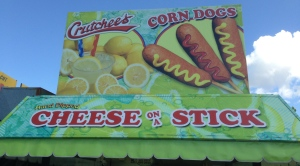They didn't specify but I have to believe this is (Deep Fried) Cheese on a Stick!