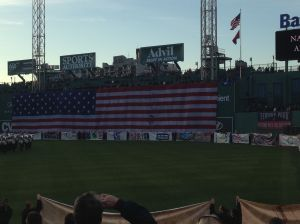I was hoping they would drop the big flag again.  So awesome!